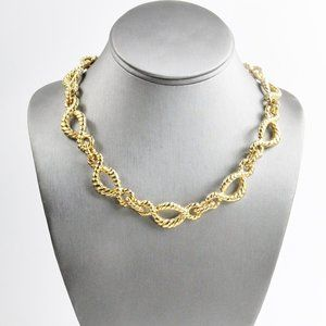 80's JEWELRY NOS F O INC ROPED CHAIN NECKLACE